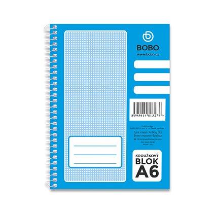 Obrázek produktu Bobo blok - kroužkový blok - A6, 50 l., čistý