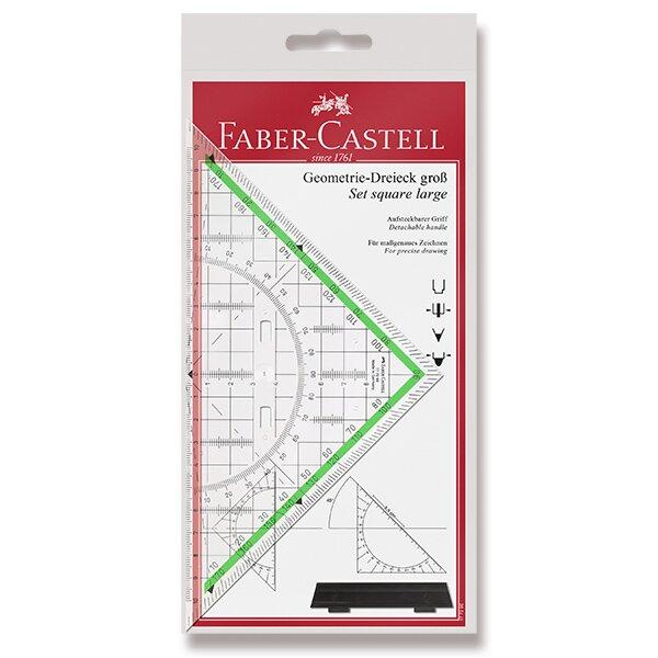 Multifunkční trojúhelník Faber-Castell TEKA s úchytem