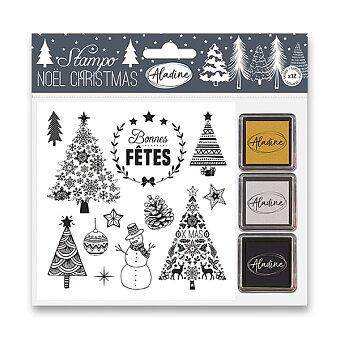 Obrázek produktu Razítka Stampo Nöel Aladine - Vánoční stromečky - 13 ks