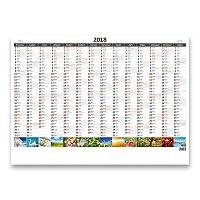 Plánovací mapa 2018 - nástěnný pracovní kalendář - obrázková