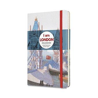 Obrázek produktu Zápisník Moleskine I am London - tvrdé desky - L, linkovaný