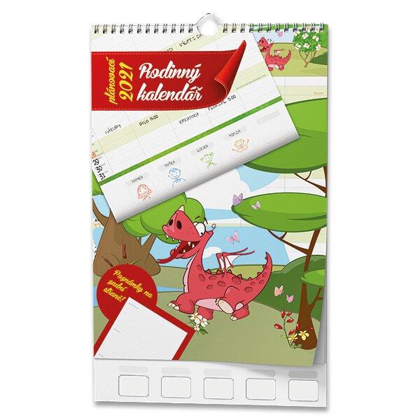 Rodinný plánovací kalendář 2021 nástěnný