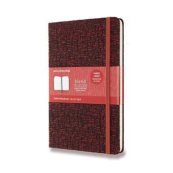 Obrázek produktu Zápisník Moleskine Blend 19 - tvrdé desky - L, linkovaný, tmavě červený
