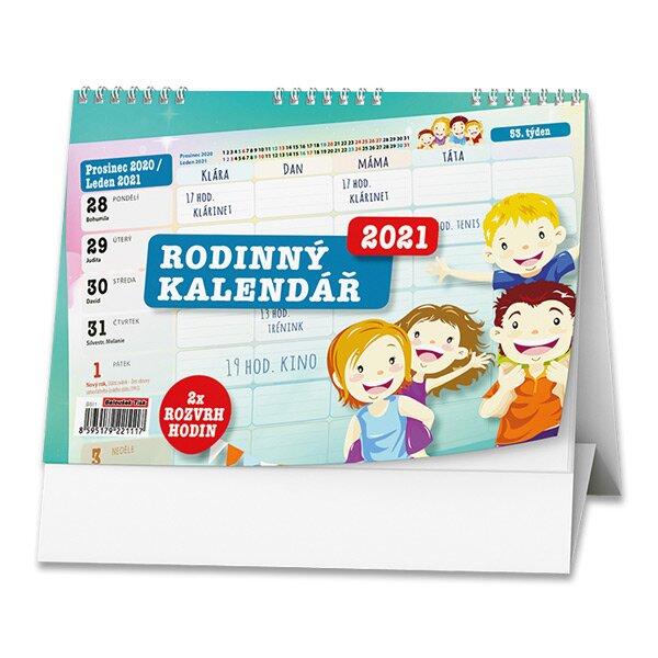 Rodinný plánovací kalendář 2021 stolní