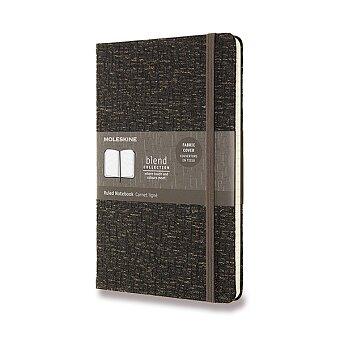 Obrázek produktu Zápisník Moleskine Blend 19 - tvrdé desky - L, linkovaný, tmavě hnědý