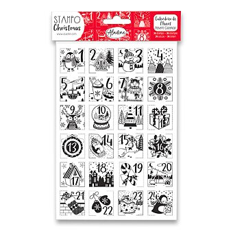 Obrázek produktu Razítka Stampo Christmas Aladine - Adventní kalendář - 24 ks