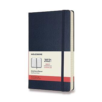 Obrázek produktu Diář Moleskine 2021 - tvrdé desky - L, denní, modrý