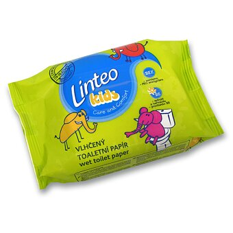 Obrázek produktu Toaletní papír Linteo Kids vlhčený - 60 ks