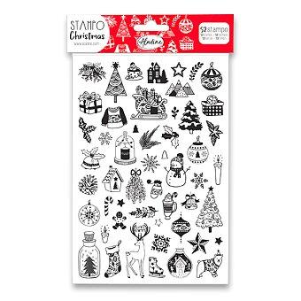 Obrázek produktu Razítka Stampo Christmas Aladine - Veselé Vánoce - 52 ks