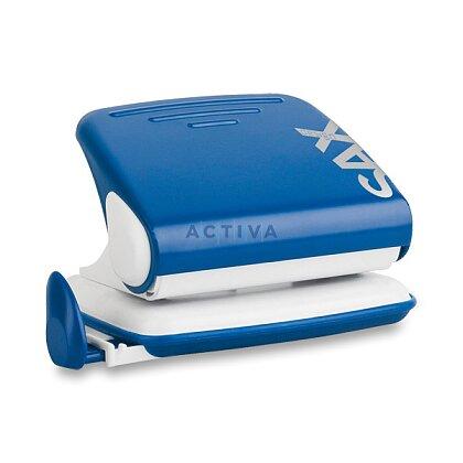 Obrázek produktu SAX 318 - děrovačka s příložníkem - na 15 listů, modrá