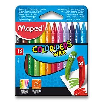 Obrázek produktu Voskovky Maped Color'Peps Wax - 12 barev, trojhranné