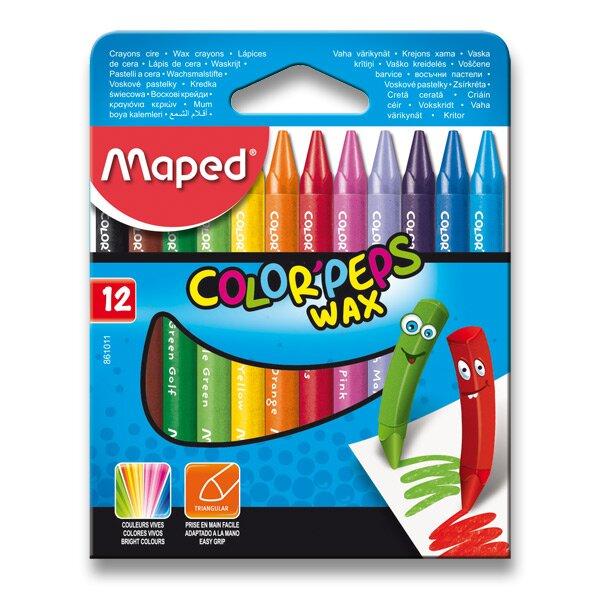 Voskovky Maped Color'Peps Wax 12 barev, trojhranné