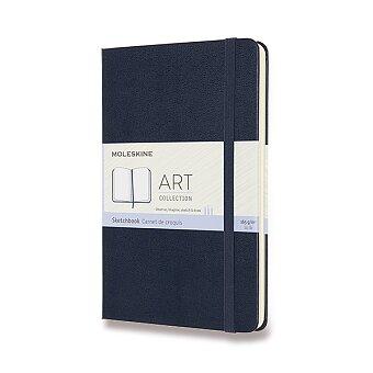 Obrázek produktu Skicář Moleskine - tvrdé desky - M, čistý, modrý