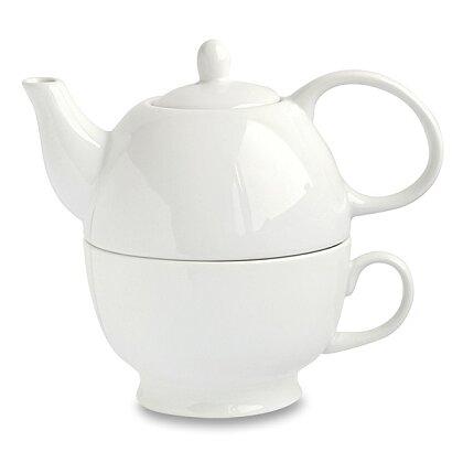 Obrázek produktu Konvička s šálkem 2v1 - porcelánový set