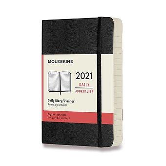 Obrázek produktu Diář Moleskine 2021 - měkké desky - S, denní, výběr barev