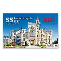 Stolní kalendář 55 turistických nej 2021