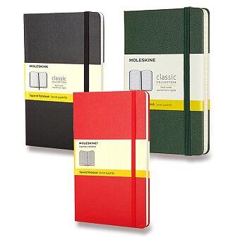 Obrázek produktu Zápisník Moleskine - tvrdé desky - S, čtverečkovaný, výběr barev