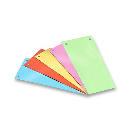 Obrázek produktu HIT Office - papírový rozlišovač - 105×240 mm, mix barev