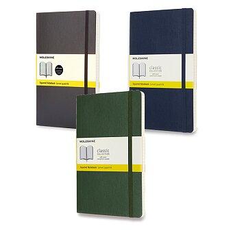 Obrázek produktu Zápisník Moleskine - měkké desky - L, čtverečkovaný, výběr barev