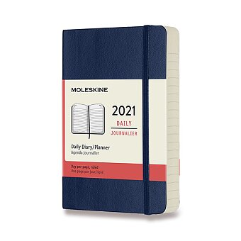 Obrázek produktu Diář Moleskine 2021 - měkké desky - S, denní, modrý