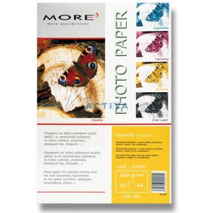 Obrázok produktu More Exclusive - fotografický papier - A4, 260 g, 20 listov