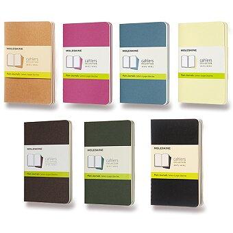 Obrázek produktu Sešity Moleskine Cahier - S, čistý, 3 ks, výběr barev