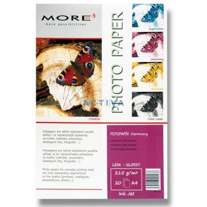Obrázok produktu More Harmony Glossy - fotografický papier - A4, 215 g, 20 listov, lesklý