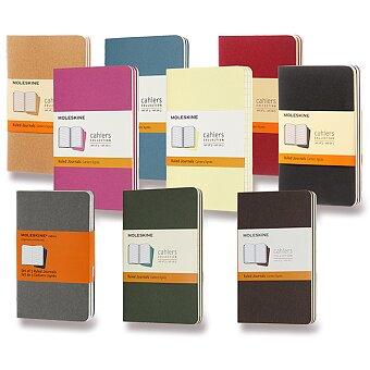 Obrázek produktu Sešity  Moleskine Cahier - S, linkovaný, 3 ks, výběr barev