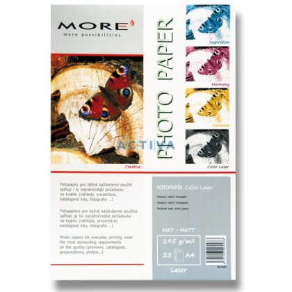 Obrázok produktu More Color Laser - fotografický papier - A4, 195 g, 25 listov, matný
