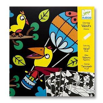 Obrázek produktu Sametové malování Djeco - Ptáčci