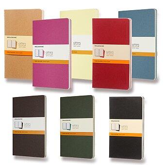 Obrázek produktu Sešity Moleskine Cahier - L, linkovaný, 3 ks, výběr barev
