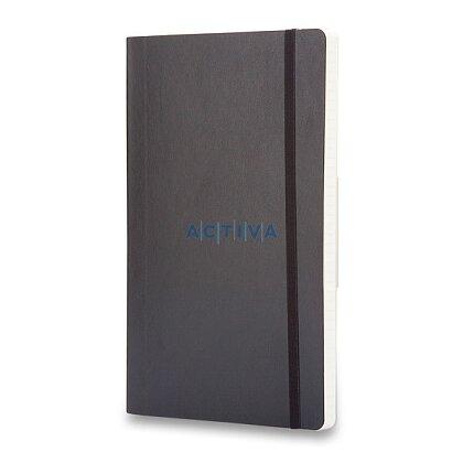 Obrázok produktu Moleskine - zápisník v mäkkých doskách - 9 x 14 cm, štvorčekový, čierny