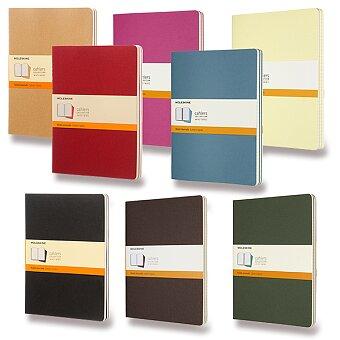Obrázek produktu Sešity Moleskine Cahier - XL, linkovaný, 3 ks, výběr barev
