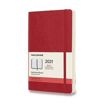 Obrázek produktu Diář Moleskine 2021 - měkké desky - L, denní, červený
