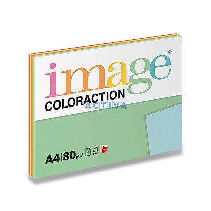 Obrázek produktu Image Coloraction - barevný papír - A4, 80 g, 5x20 l., Mix reflexní