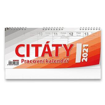 Obrázek produktu Stolní kalendář Citáty I 2021 - pracovní