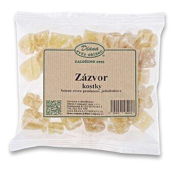 Obrázek produktu Sušený zázvor Diana - kostky, 100 g