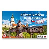 Stolní kalendář Křížem krážem Českou republikou 2021