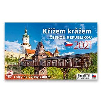 Obrázek produktu Stolní kalendář Křížem krážem Českou republikou 2021 - obrázkový