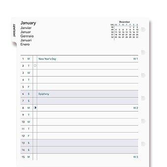 Obrázek produktu Měsíční kalendář 2021 - náplň A5 zápisníků Filofax Notebook