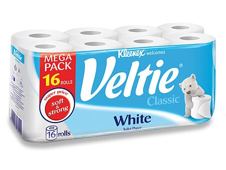 Obrázek produktu Toaletní papír Veltie Kleenex Classic - 2 - vrstvý, 144 útržků, 16 ks