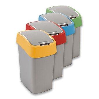 Obrázek produktu Plastový odpadkový koš s víkem Flipbin - objem 50 l, výběr barev