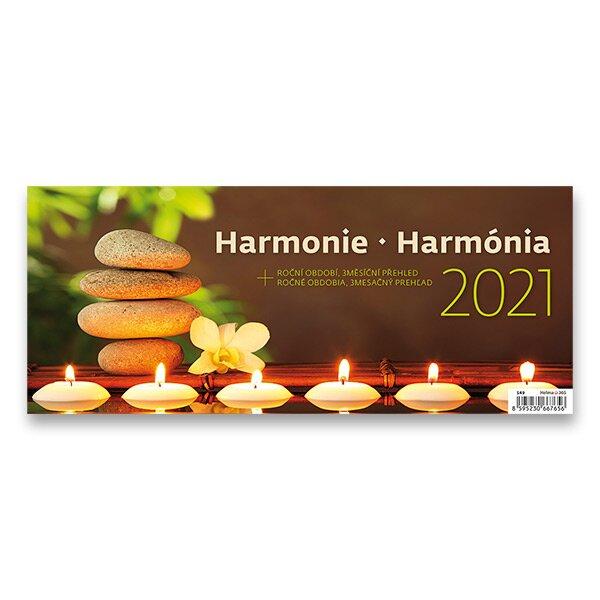 Stolní kalendář Harmonie 2021 pracovní s obrázky