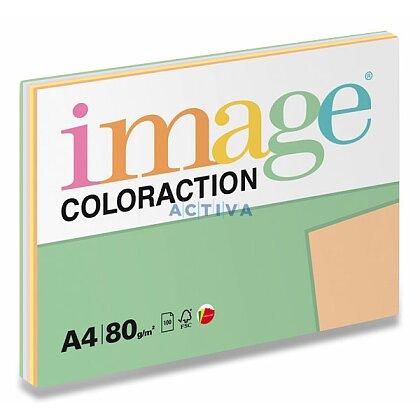 Obrázok produktu Image Coloraction - farebný papier - A4, 80 g, 5 x 20 l., Mix pastel