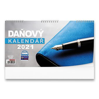 Obrázek produktu Stolní kalendář Poznámkový daňový 2021 - pracovní