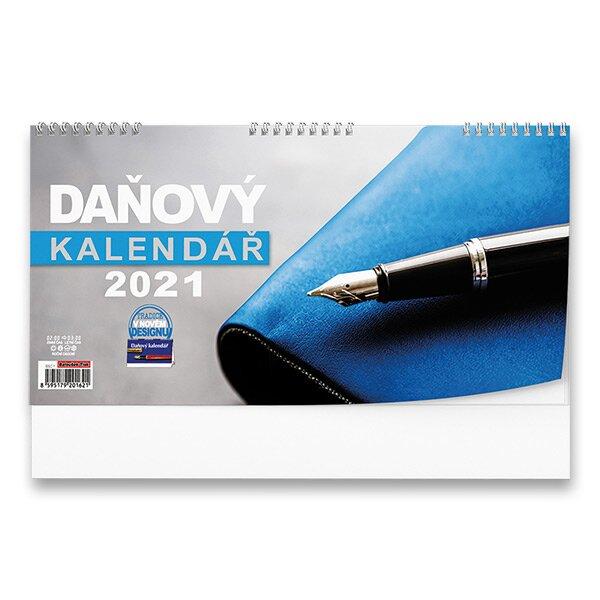 Stolní kalendář Poznámkový daňový 2021 pracovní