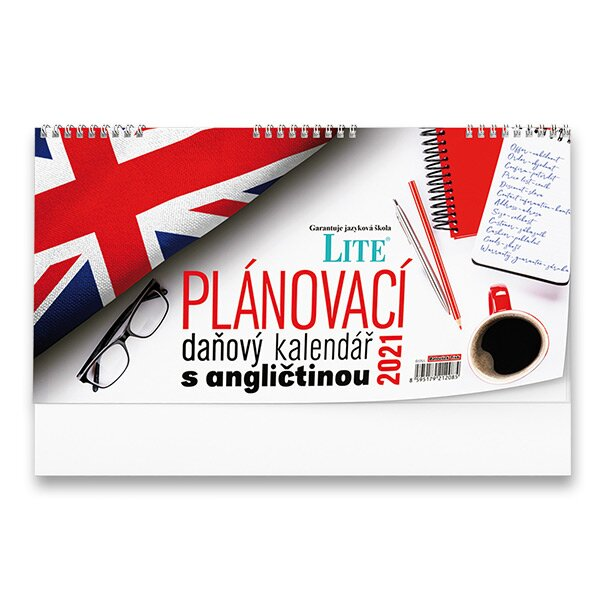 Stolní kalendář Plánovací daňový s angličtinou 2021 pracovní