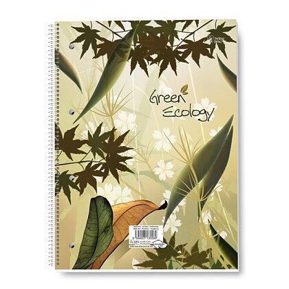 Obrázek produktu Green Ecology - kroužkový blok - A4, 50 l., linkovaný