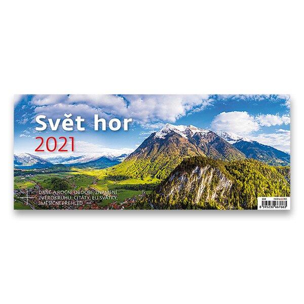 Stolní kalendář Svět hor 2021 pracovní s obrázky