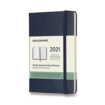 Obrázek produktu Diář Moleskine 2021 - tvrdé desky - S, týdenní, modrý